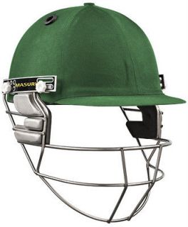 2013 Masuri Test Steel Grill Mens Green Cricket Helmet