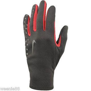 NIKE Womens NEW Dark Gray Pink Lightweight Running Athletic Gloves