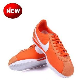 Nike Classic Cortez Nylon Safety Orange White Vintage Running Shoes