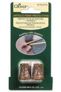 CLOVER METAL ANTIQUE KNITTING NEEDLE POINT PROTECTORS
