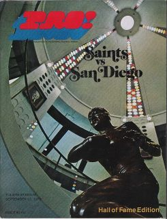 Saints San Diego chargers 1970 football Program NFL Coin Souvenir