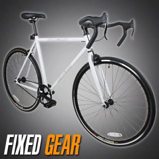 Track Fixed Gear Bike Fixie Single Speed Road Bicycle   White Color