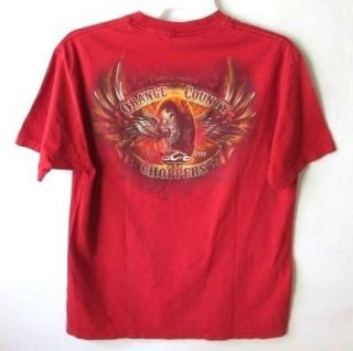 ORANGE COUNTY CHOPPERS NEW YORK RED T SHIRT *SZ L*