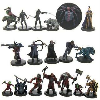 USED Lot 18 Pcs Dungeons & Dragons Miniatures d&d Figure NO CARD WM30