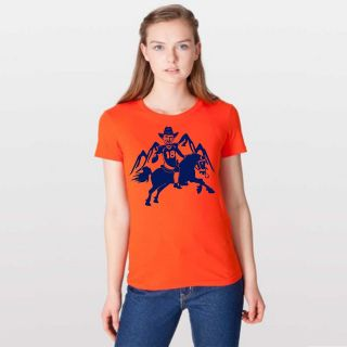 Manning Denver Broncos vintage FOOTBALL mile high jersey T SHIRT