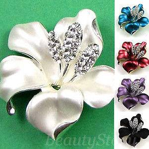 ADDL Item  rhinestone crystal bouquet flower brooch pin