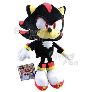 SEGA SONIC THE HEDGEHOG 10 Shadow Game Soft Plush Figure Doll Toy