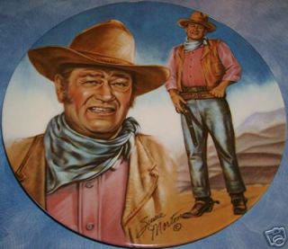 Large John Wayne Commemorative Plate By Susie Morton