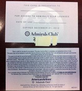 TWO (2x) American Airlines AA Admirals Club Passes Voucher exp12/31
