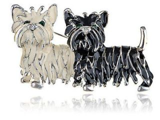 Shih Tzu Puppies Enamel Fashion Costume Jewelry Pin Brooch Pendant