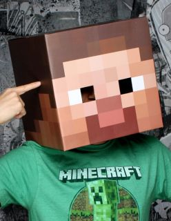 Minecraft Steve Head Costume Disguise Cosplay by Jinx IN STOCK!!