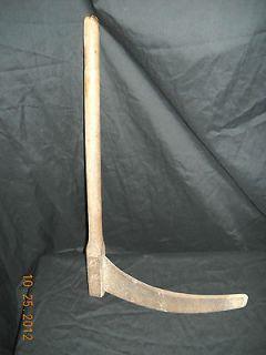 Antique Farm Tool   Corn / Tobacco Cutter Scythe   Original Wooden
