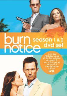 Burn Notice Season 1 2 Set DVD, 2010, 8 Disc Set