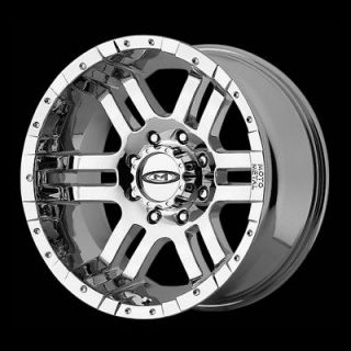 METAL CHROME RIMS WITH 305 70 17 NITTO TERRA GRAPPLER AT TIRES WHEELS