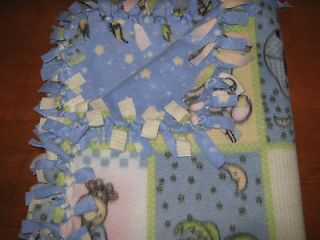 Hand Tied No Sew Large Reversable Double Fleece Baby / Toddler Blanket