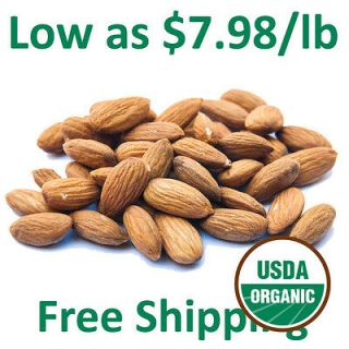 Certified Organic Truly Raw Unpasteurized Almonds Family Farmed in