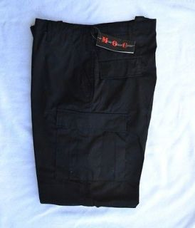 Mens Military BDU Pants    X Large Regular Black NWT