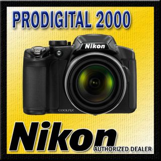 BLACK Nikon Coolpix P510 Digital Camera 42X Ultra Zoom 16.1 MP Full