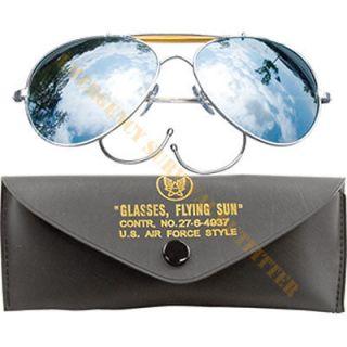 MILSPEC Aviator Pilot Sunglasses Sun Glasses Chrome with Mirror