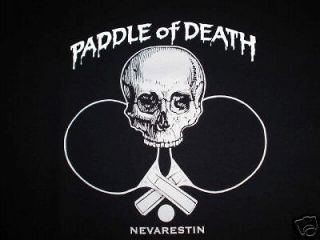 PADDLE of DEATH ping pong table tennis skull ball s med L xl xxl t