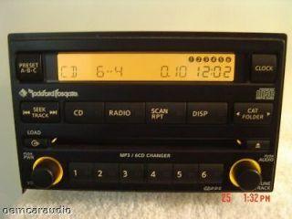05 06 07 NISSAN Frontier Xterra Pathfinder Radio 6 Disc CD Changer