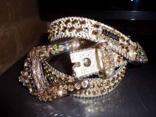 Simon Swarovski Crystal Belt~Gold with Crowns~ONE OF A KIND