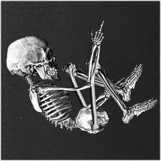 Baby Skeleton Love Poke Flip Off Bird Halloween Costume Funny T Shirt
