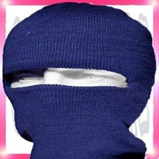 One Face Mask HAT Navy Blue New 1 Knit Head Full Ski Ninja KuFu Cap