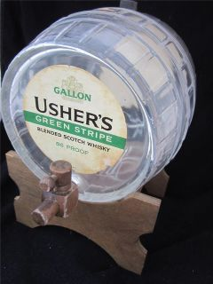 Barrel Ushers Green Stripe Scotch Whiskey Whisky Decanter Dispenser