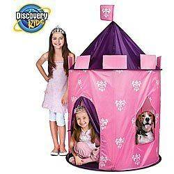 DISCOVERY KIDS INDOOR OUTDOOR PRINCESS PLAY CASTLE TENT WITH BOX