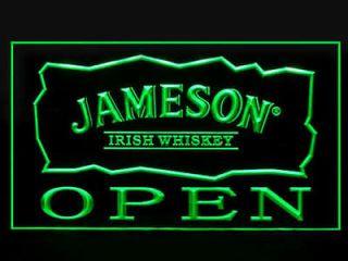 LED Sign Jameson Irish Whiskey OPEN Light