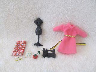 Miniature DollHouse Sewing Machine Dress Form Material Pin Cushion
