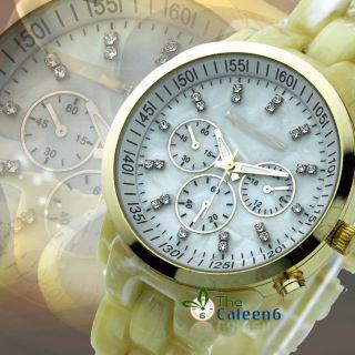 Fashion Womans Sport Mens Wrist Watch Crystal Oversized Wrist Watch