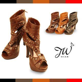 New Womens Open Toe Pumps Platforms Gladiator Ankle High Heels Sandal