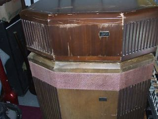 Vintage Leslie 720/540 empty speaker cabinet + loaded treble extension