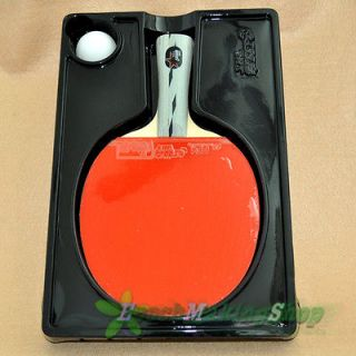 DHS Ping Pong Paddle Table Tennis Racket 3 Star Long handle
