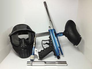 semi auto paintball Gun Kit   used. Includes Mask, xtra barrel, loader