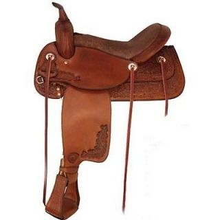 NEW! Tex Tan Cumberland 17 Trail Saddle #0804022 2p7 Pecan