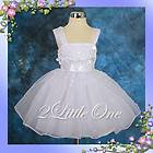 CLEARANCE SALE White Wedding Flower Girls Pageant Party Dress 18m 24m