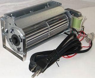 75 CFM Universal Fireplace Blower + Temp Switch & Cord Fan Replacement