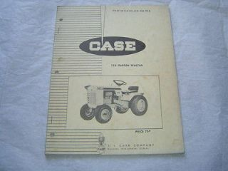 Case 120 lawn and garden tractor parts catalog book manual