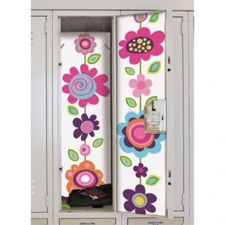 Flower Stripe Peel & Stick Locker Skins Removable Wall Decal Sticker
