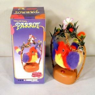 RECORDING PARROT novelty bird toys talking toy birds