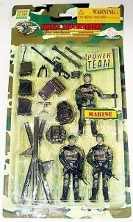 Power team Elite:World Peacekeepers,Marine 3 Pack MISP,M&C Toy Centre