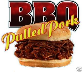 BBQ Barbeque Pork Pig Restaurant Food Sign Decal 14