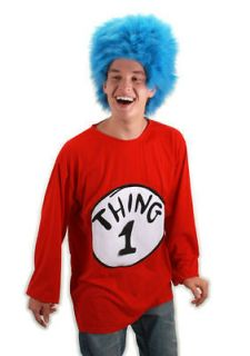 Costume Kit Size S Small / M Medium S/M NEW Dr. Seuss T Shirt Wig