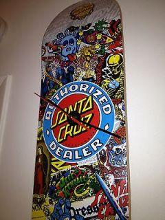 SANTA CRUZ Vintage Skateboard Logo Clock ROSKOPP GROSSO ALBA Dogtown