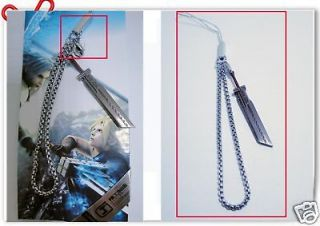 Anime Final Fantasy VII Cloud Matal the buster sword phone chain strap