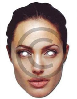 Celebrity Fancy Dress Mask Angelina Jolie Card Mask New