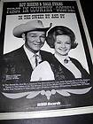 AND DALE EVANS Full size poster pg POST CEREAL WILLYS JEEP CONTEST AD